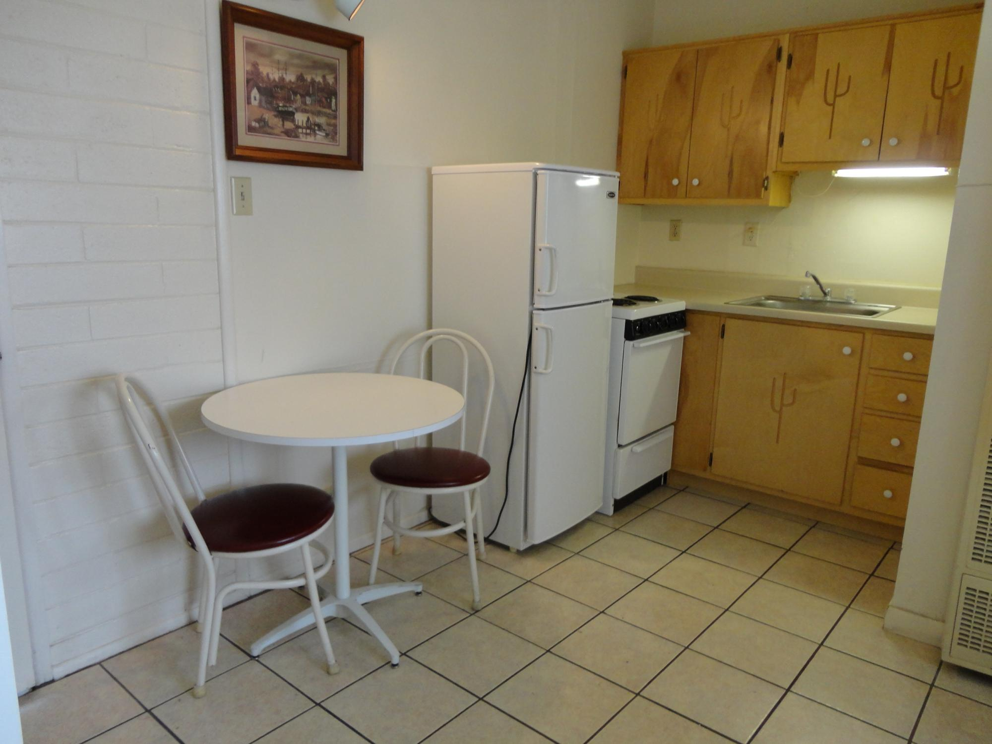 Each unit is approximately 250 sq. ft. with a 3/4 bath, and include all  utilities. These units start at $375 per month (based on a 6-month lease).